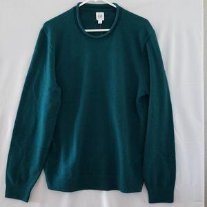 GAP Mens Rolled Crewneck Sweater - Large